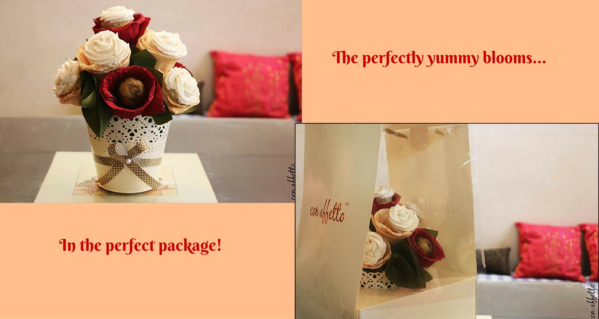 One of our edible bouquets is the gorgeous and yummy cupcake bouquet