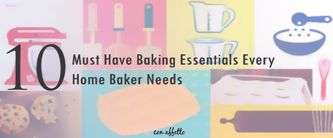 The must have baking essentials every home baker needs includes a stand mixer and many other must have baking tools