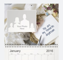 Funky gift ideas for her! A personalized wall calendar