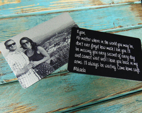 Funky gift ideas for her! A personalized wallet insert