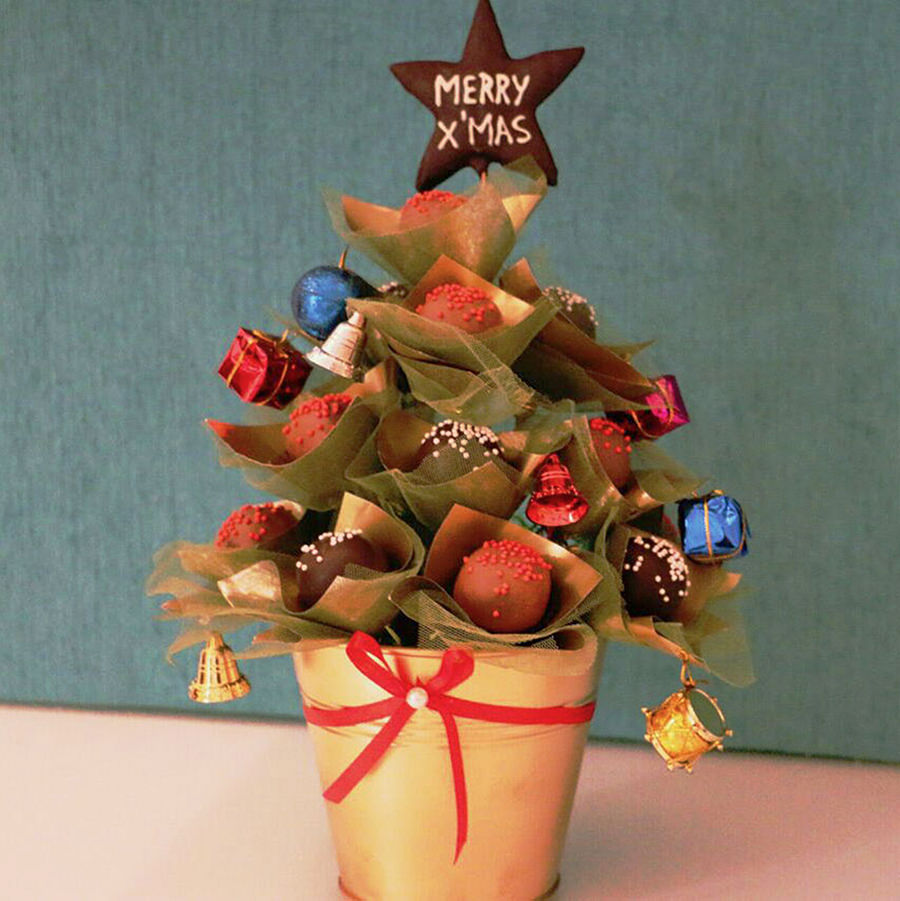 Cake Pop Bouquet - Pop Christmas Tree